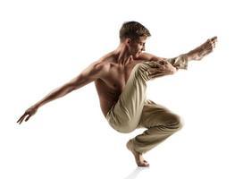 kaukasiska manliga dansare foto