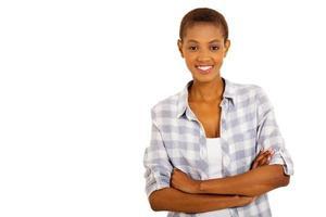 ung afrikansk amerikansk kvinna foto