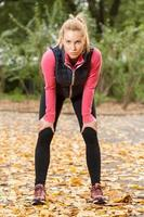 vila efter jogging foto