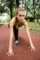kvinnliga idrottare foto