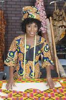 porträtt av en afrikansk amerikansk kvinna foto