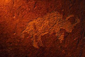 bison petroglyph foto