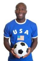 skrattar fotbollsfan från USA foto