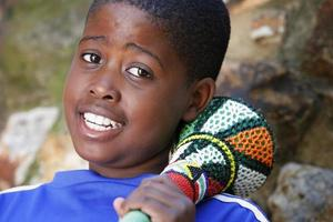 afrikansk fotbollssupporter foto