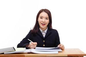 ung asiatisk student foto