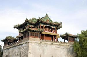 asiatisk antik byggnad foto