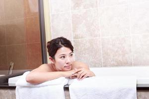 asiatisk ung kvinna foto