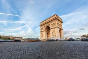 arch de triomphe in paris foto