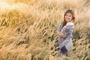 vacker asiatisk dam foto