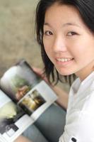 asiatisk högskolestudent foto