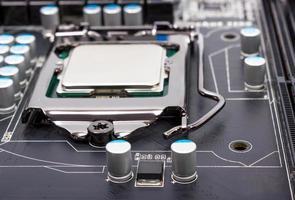 elektronisk samling - CPU-uttag på moderkortet foto