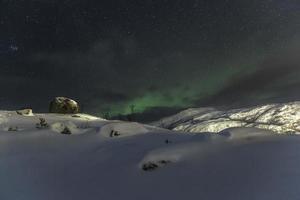 aurora över lødingen foto