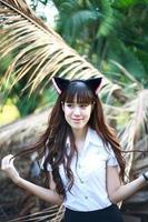 vacker asiatisk tjej