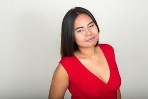 överviktig asiatisk kvinna foto