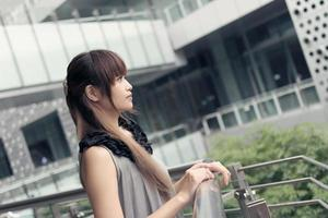 attraktiv asiatisk kvinna foto