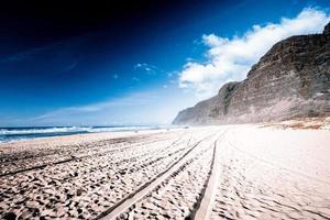vacker strand foto