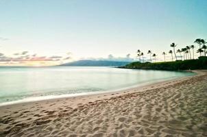 kaanapali strand i västra maui, hawaii foto