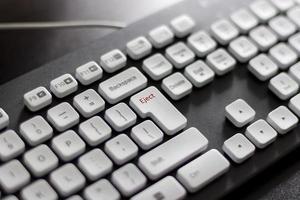 tangentbord genväg ut. foto