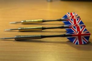 Storbritannien / brittiska dartpilar foto