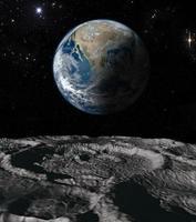 jord och måne foto