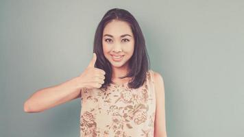 asiatisk kvinna för vintage. foto