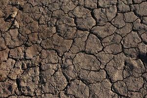 knäckt torkad jord