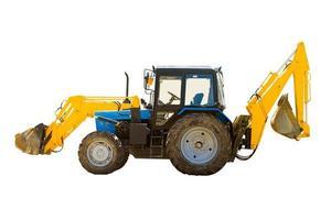 traktor med hjul foto