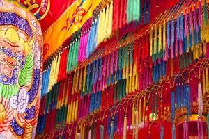 asiatisk tempel dekoration foto