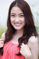 vacker asiatisk kvinna