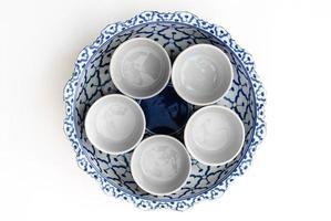 asiatisk målad skål foto