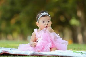 liten asiatisk tjej foto