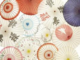 asiatiska parasoller foto
