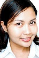 asiatiska kvinnor ler foto