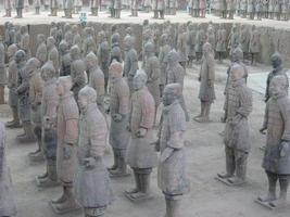 terrakotta armé av qin shi huang, första kejsar Kina foto