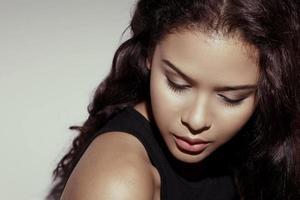 asiatisk glamour skönhet b foto
