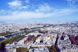 paris skyline från eiffeltornet foto