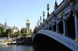 bridge alexandre iii i paris foto
