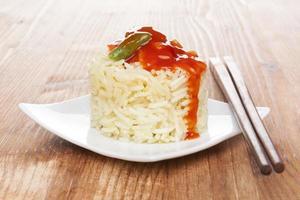 traditionell asiatisk äta. foto