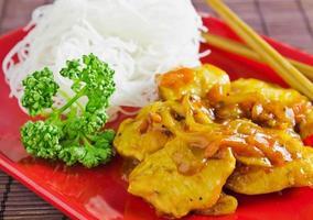asiatisk stek foto