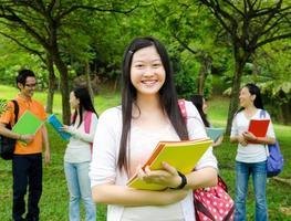 asiatiska studenter foto