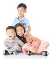 asiatiska barn foto