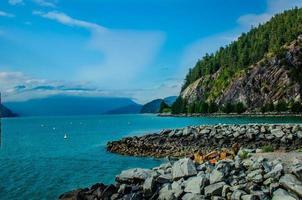 Porteau cove provinspark, brittiska columbia, Kanada horisontellt foto