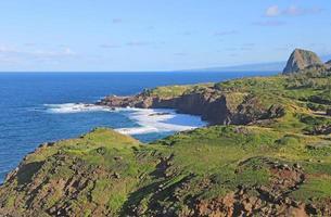 kusten av maui med kahakuloa huvud foto