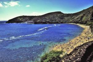 hanauma bay, flygfoto foto