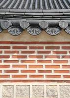 asiatiska tak och vägg foto