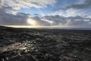 sladdad lava i hawaii foto