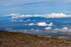 Flygfoto över Maui-kusten foto
