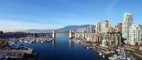 panoramautsikt i vancouver foto
