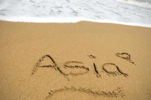 asiatisk sand foto