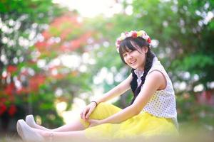 tonårig asiatisk tjej foto